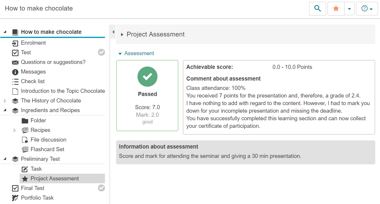 Configure Assessment Form - Learning Management System