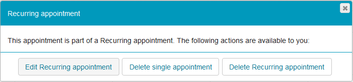 Edit or delete recurring appointment