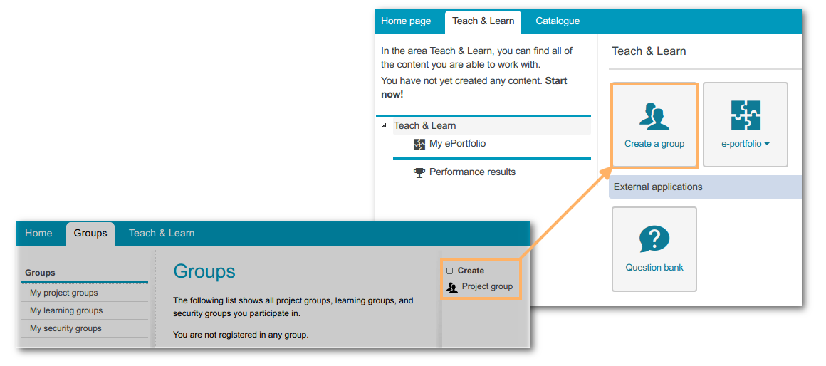 New user interface, create working group